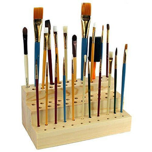 #COMW260 Wooden Brush Holder for 63 Brushes