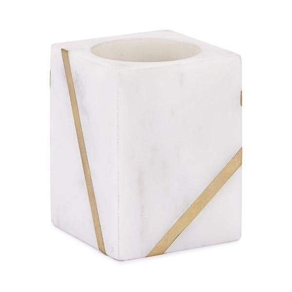Marble Brass Toothbrush Holder/Tumbler