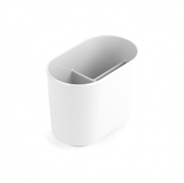 Step Toothbrush Holder, White