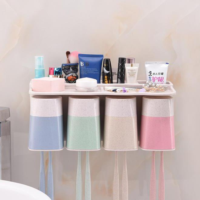 Bathroom Toothbrush Holder Wall Cups Storage Set