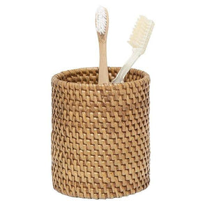 Dalton Rattan Brush Holder