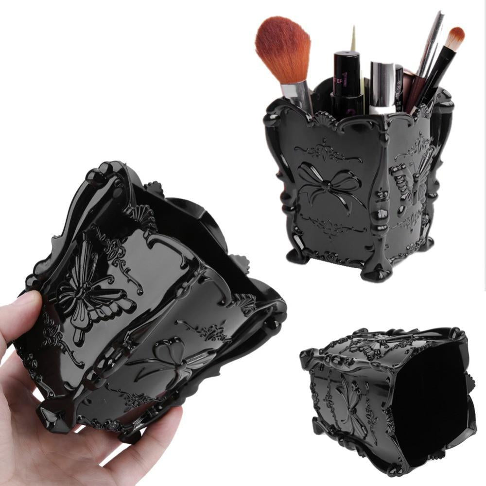 Acrylic Makeup Cosmetic Storage Box Case Brush Holder  Pen Organizer Decorative 4 Colors  Auto renew