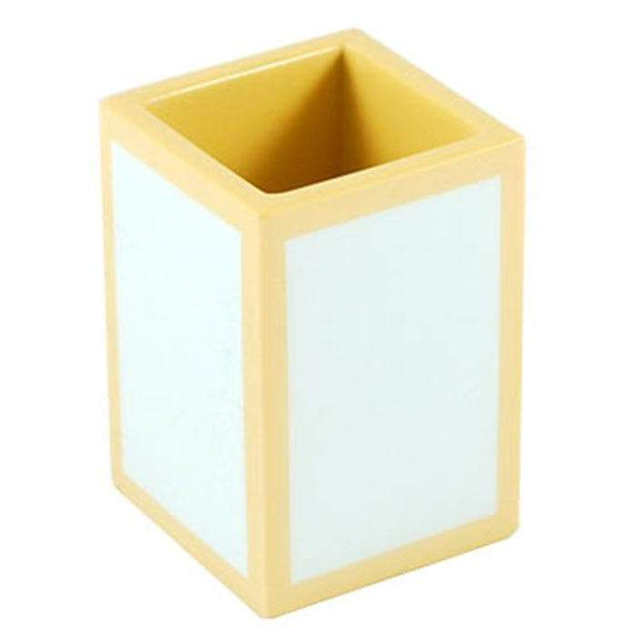 Duck Egg with Beige Lacquer Brush Holder