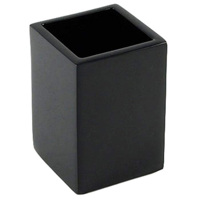 Black Lacquer Brush Holder