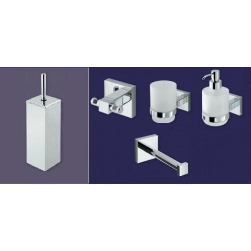 Eastbrook Bathroom and Toilet Accessories 5 Piece Rimini Set b