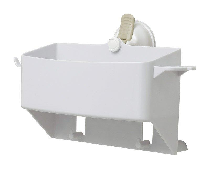 Safe-Er-Grip Caddy/Razor/Toothbrush Holder 5.5 in. H x 5 in. W x 10 in. L Bright White Plastic