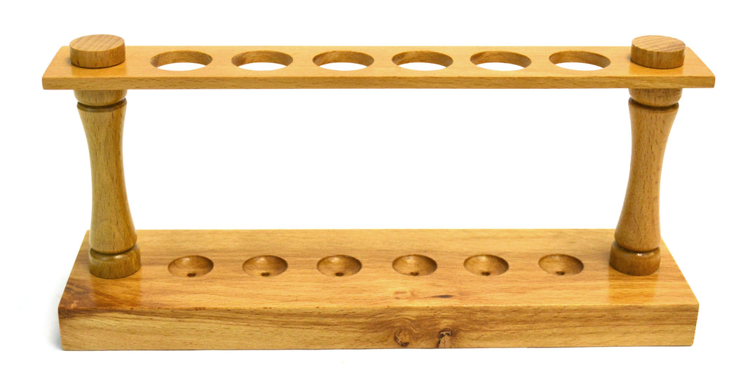 Eisco Labs Premium Beechwood Test Tube Rack, (6) 22mm Holes, 9.5
