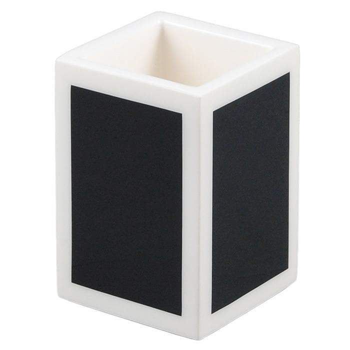 Black & White Lacquer Brush Holder