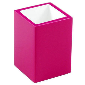 Hot Pink Lacquer Brush Holder