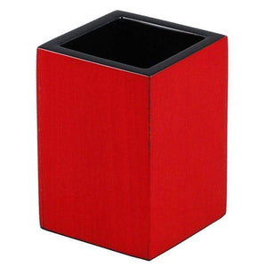 Red Tulipwood Lacquer Bathroom Accessories