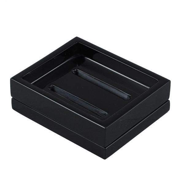 Black Rose Lacquer Bathroom Accessories