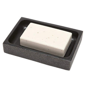 Manchester Faux Shagreen Bathroom Accessories (Cool Gray)