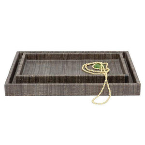 Bali Brown Rectangular Tray Set