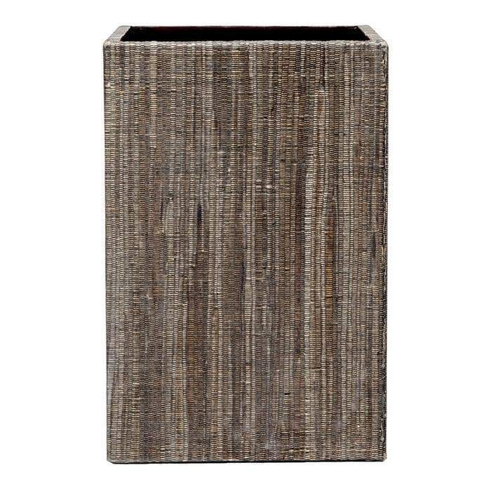 Bali Brown Square Waste Basket, Straight