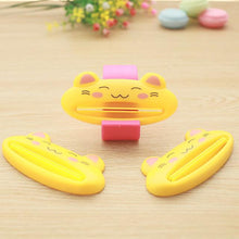 Load image into Gallery viewer, 1 pcs multicolor Cute Animal Multifunction portable Plastic Toothpaste Squeezer Bath Toothbrush Holder bathroom sets home items