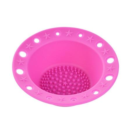1Pcs Silicone Brush Cleaner Washing Tools Cosmetics Makeup Brush Holder Scrubber Textures Pinceles Cleansing Pad