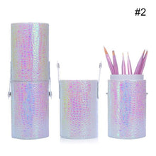 Load image into Gallery viewer, 1 Pc Mermaid Fish Scale Nail Brush Holder Storage Case Bag Cosmetic Pen Organizer Makeup Manicure Nail Art Tool Accessory