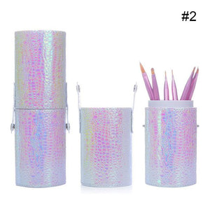 1 Pc Mermaid Fish Scale Nail Brush Holder Storage Case Bag Cosmetic Pen Organizer Makeup Manicure Nail Art Tool Accessory