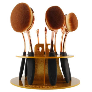 10 Hole Oval Makeup Brush Holder Drying Rack Organizer Cosmetic Shelf Tool brochas maquillaje profesional pinceaux maquillage #7