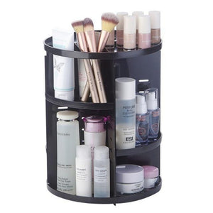 DTSL 30.4*23cm 360-degree Rotating Makeup Organizer Box Brush Holder Jewelry Organizer Case Jewelry Makeup Cosmetic Storage Box