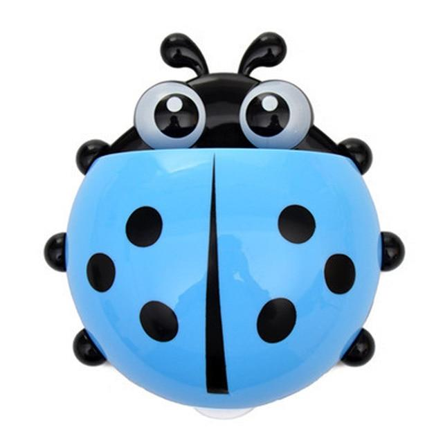 1PC Ladybug Toy Toothbrush Holder Toothpaste Holder Bath Toy Sets Tooth Brush Container Cute Toys For Children Kids Gifts