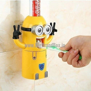 3 In 1 Minion Mouth-Rising Cup Toothpaste Dispenser