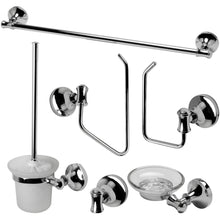 Load image into Gallery viewer, ALFI brand AB9521 Brushed Nickel/Polished Chrome Piece Matching Bathroom Accessory Set