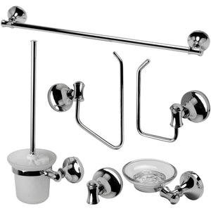 ALFI brand AB9521 Brushed Nickel/Polished Chrome Piece Matching Bathroom Accessory Set