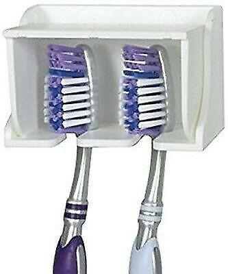 Camco 57203 Pop-A-Toothbrush White Dual Toothbrush Holder