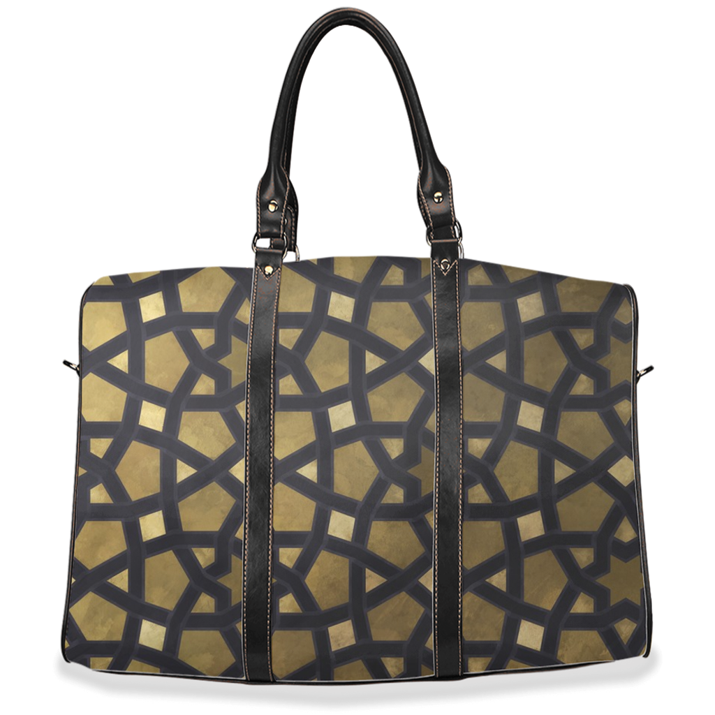 Gold Geometric Travel Bags