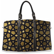 Load image into Gallery viewer, Gold Geometric Travel Bags