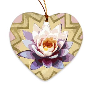 Peaceful Lily Porcelain Ornaments