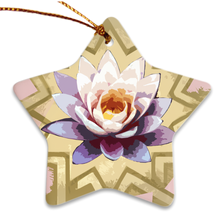 Load image into Gallery viewer, Peaceful Lily Porcelain Ornaments