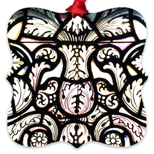 Stained Glass Design Metal Ornaments