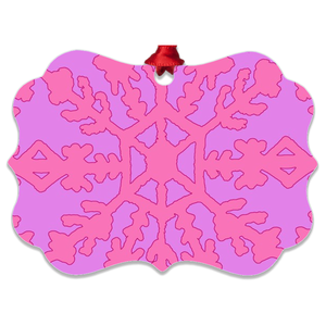 Electra Pink Metal Ornaments