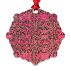 Scotch Red Metal Ornaments