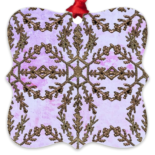 Lavender Gild Metal Ornaments