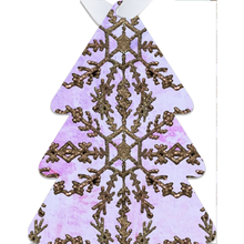 Load image into Gallery viewer, Lavender Gild Metal Ornaments