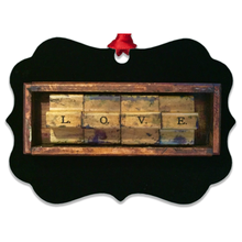 Load image into Gallery viewer, Wood Love Metal Ornaments