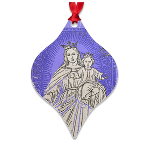 Queen of Peace with baby Jesus Metal Ornament