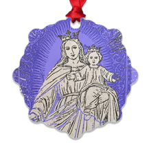 Load image into Gallery viewer, Queen of Peace with baby Jesus Metal Ornament