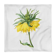 Load image into Gallery viewer, Gorgeous Premium Pillow Case with yellow flower and white background