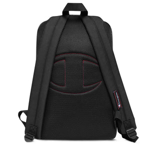 Embroidered Champion Backpack with our signature geometric design