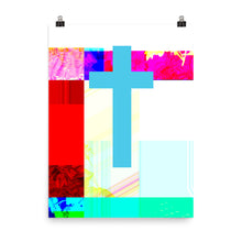 Load image into Gallery viewer, Poster of contemporary cross painting