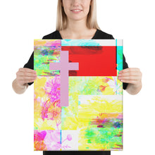 Load image into Gallery viewer, Contemporary Cross painting. Let your light shine!