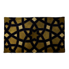 Load image into Gallery viewer, Elegant Premium Pillow Case with elegant black and gold geometric design