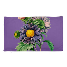 Load image into Gallery viewer, Premium Pillow Case with Purple and pink flowers with purple background