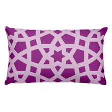 Load image into Gallery viewer, Premium Pillow with pink geometric design