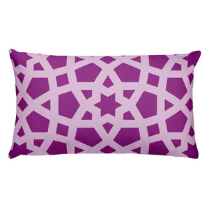 Premium Pillow with pink geometric design