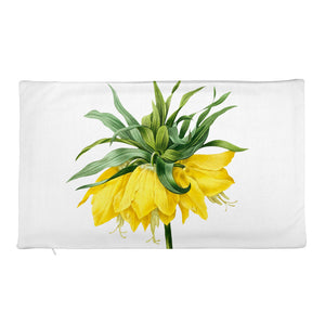 Gorgeous Premium Pillow Case with yellow flower and white background